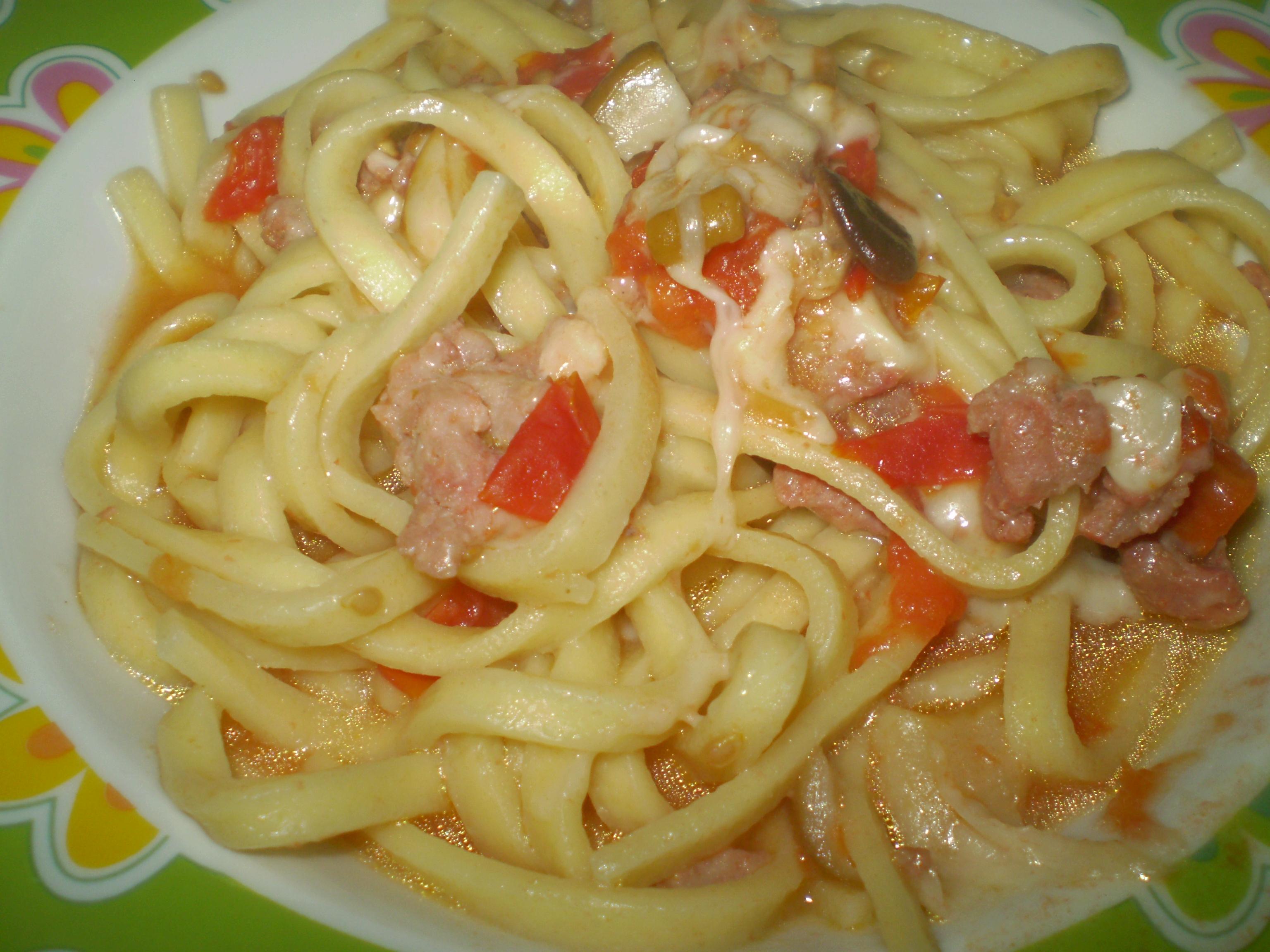 Scialatielli con salsiccia porcini e scamorza affumicata - Come cucinare salsiccia ...