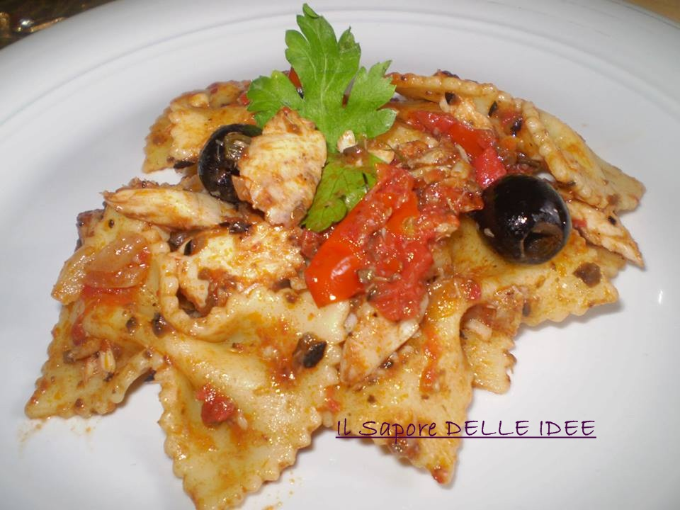 Farfalle con filetti di sogliola e olive il sapore delle for Cucinare sogliola