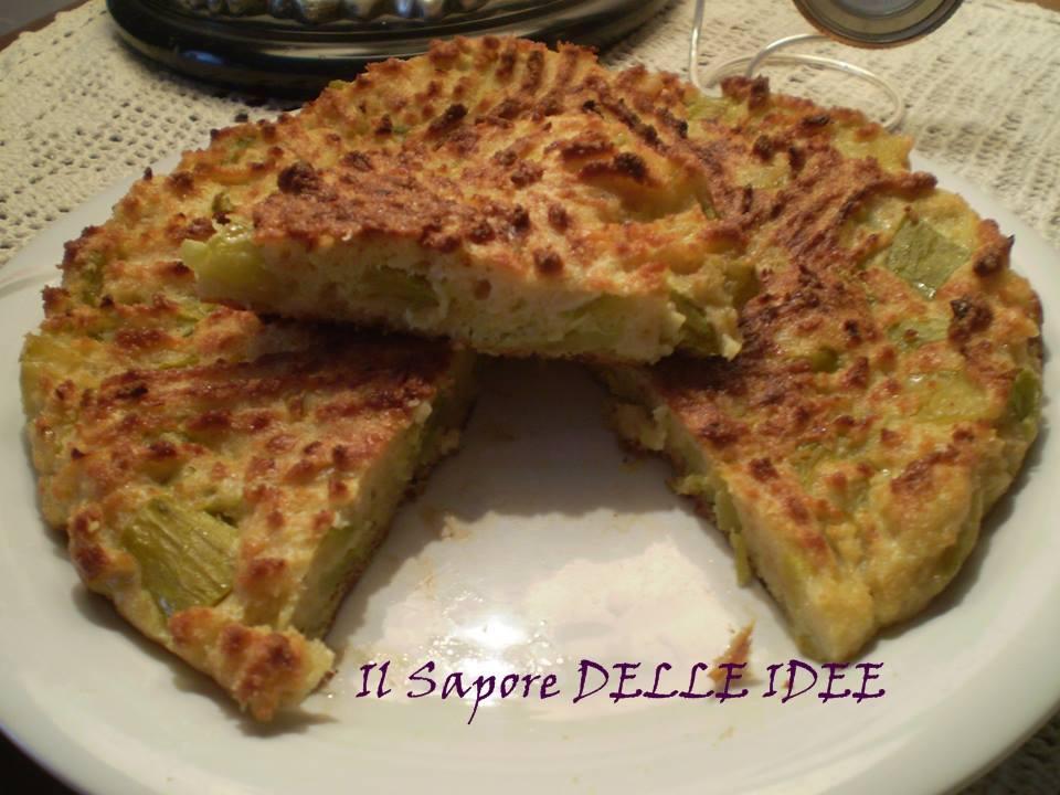 Frittata al forno di zucchine il sapore delle idee for Cucinare zucchine al forno